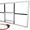 Баскетбольный щит оргстекло (10 мм.) 1, 05м. х 1, 8м. с кольцом #1545680