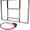 Баскетбольный щит оргстекло (10 мм.) 0, 9м. х 1, 2м. с кольцом #1545684