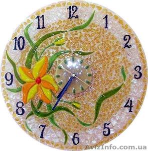 Декоративные часы для интерьера. Фьюзинг, кристаллы Сваровски. - Изображение #1, Объявление #1454610