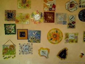 Декоративные часы для интерьера. Фьюзинг, кристаллы Сваровски. - Изображение #7, Объявление #1454610