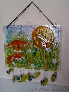 Декоративные часы для интерьера. Фьюзинг, кристаллы Сваровски. - Изображение #10, Объявление #1454610