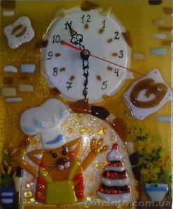Декоративные часы для интерьера. Фьюзинг, кристаллы Сваровски. - Изображение #6, Объявление #1454610