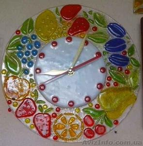 Декоративные часы для интерьера. Фьюзинг, кристаллы Сваровски. - Изображение #8, Объявление #1454610