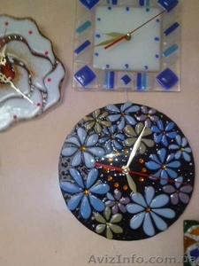 Декоративные часы для интерьера. Фьюзинг, кристаллы Сваровски. - Изображение #9, Объявление #1454610