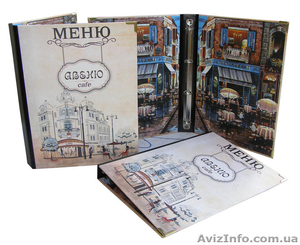 Папки меню, папки карта вин, счетницы изготовление под заказ в Киеве - Изображение #1, Объявление #640632