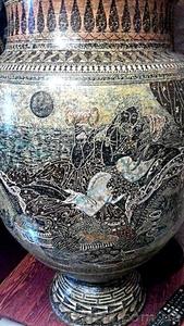 Большая ваза с крышкой.1м.14см.Гончарная работа(глина).Ручная роспись. - Изображение #4, Объявление #1604905