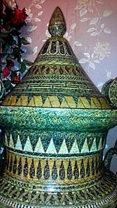 Большая ваза с крышкой.1м.14см.Гончарная работа(глина).Ручная роспись. - Изображение #2, Объявление #1604905