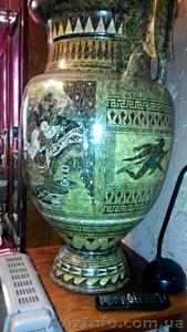 Большая ваза с крышкой.1м.14см.Гончарная работа(глина).Ручная роспись. - Изображение #6, Объявление #1604905