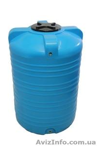 Емкость вертикальная на 1000 литров пищевая бочка пластиковая, бак для воды - Изображение #1, Объявление #1644285
