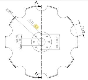 Диски 660 для бороны АГ, АГД, ДАН- АМА Италия - Изображение #2, Объявление #1663987
