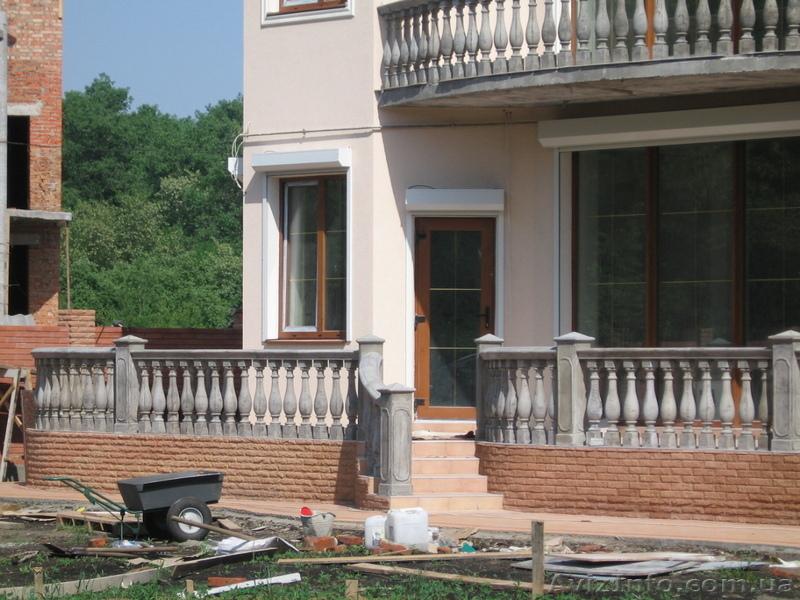 Балконные и лестничные ограждения, балясины бетонные в киеве.