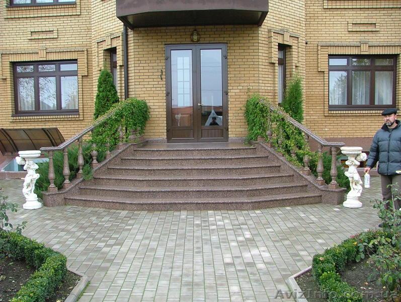 Фото входных лестниц в частных домах