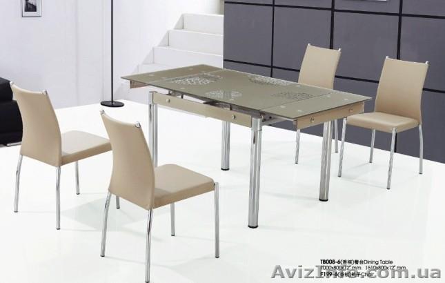 Стол стеклянный обеденный B180-3 черный