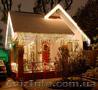 Новогоднее оформление котеджей, новогоднее украшение для дачи, иллюминация домов