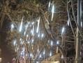 Новогоднее украшение деревьев, фасадов, улиц.Гирлянды на деревья.Тающая сосулька