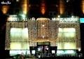 Оформление зданий гирляндами, новогоднее оформление дома, украшение фасада, окон