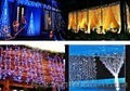 Светодиодный занавес купить  2х1 метра ,   монтаж новогодних украшений .