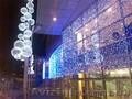 Новогоднее оформление города, новогодняя иллюминация. Монтаж световых гирлянд.