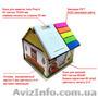 Блоки для заметок в уникальной упаковке «Домик» изготовим под заказ