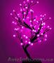 Светодиодное дерево Снежок,  60 см розовый.Новогодний подарок