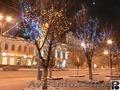 Новогоднее оформление скверов, светодиодные новогодние украшения
