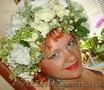 Венок на голову из живых цветов,  венок свадебный