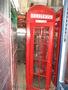 Красная телефонная будка,  б/у.