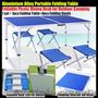 Раскладной стол для пикника алюминиевый 120х60 см