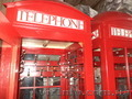 Красная телефонная будка,  подерж.