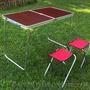 Комплект мебели для пикника WELFULL-FTS1-4, раскладной столик +4 стула - Изображение #2, Объявление #1422592