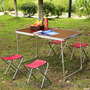 Комплект мебели для пикника WELFULL-FTS1-4, раскладной столик +4 стула - Изображение #3, Объявление #1422592