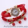 Яркие женские часы браслет