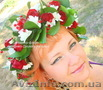 Свадебный венок на голову из живых цветов под заказ,  яркое украшение в стиль Ваш