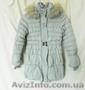 Пальто зимнее для девочки-подростка р.146(холлофайбер) б/у, Объявление #1606360