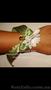 Цветочный браслет на руку из живых цветов,  браслет для невесты или свидетельницы