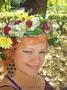 Венок на голову из живых цветов от ЦДС Свадебный Мир.