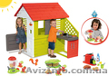 Детский домик с летней кухней 127cм + тележка с мороженным