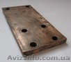 Мідна пластина 165х80х10 мм з отворами діаметром 10.5 мм,  1.1 кг.