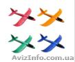 Самолетик планер,  самолет метательный из пенопласта 48 см и 36 см ОПТ