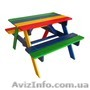 Детский комплект - 1 песочница с крышкой и столик с лавочками - Изображение #2, Объявление #1629657